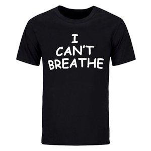 I Can't Breathe Футболки для мужчин Футболка из хлопка с воротником для Джорджа Флойда не может дышать Футболка с плотным покрытием