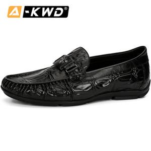 Outono respirável Men Loafers Shoes Moda Casual Resistente Mens Sapatos de couro de homem de couro genuíno Sperry Driving