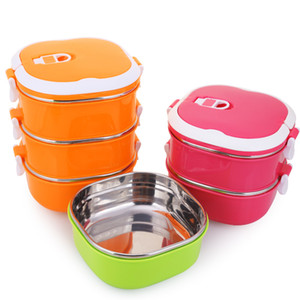Stainless Steel Insulation Practical Multi-purpose Lunch Box Square Environmental Health Student Portable Portable Multi-layer Lunch Box