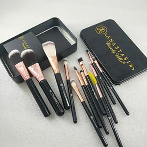Novas marca ferramentas de maquiagem pincéis de maquiagem 12pcs / set pincel de maquiagem escova set pincel de pó olho sombra Entrega postal rápido