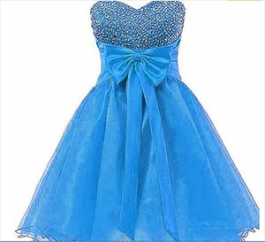 New Sexy Cheap Homecoming Dresses 2017 Sweetheart Beaded Ball Gown Beaded Graduation Prom Party Gown QC501