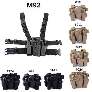 FIRECLUB Taktik Sağ El Paddle Bacak Kemer Bırak Bacak Kılıfı M1911 M92 P226 G17 için