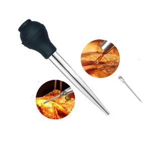 الفولاذ المقاوم للصدأ باستر مع الحاقن وفرشاة تنظيف اللحوم الحقنة نقع الحاقن BBQ مطبخ Assessoies JK2006