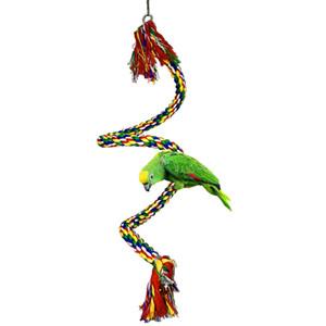 Hamster Болл птица висящей веревки Окунь Попугай игрушки роторного типа для канатного Банджи Многоцветный Птицы Игрушка Juguetes 19Apr25 P40