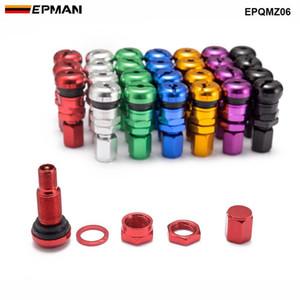 EPMAN 4pcs Universal Car Motorcycle Tubeless válvula do pneu da roda Stem Caps liga de alumínio pneu Air hastes de válvulas Acessórios Car EPQMZ06
