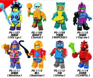 PG8094 Hemã Masters of the Universe Armadilha Evil-Lyn Whipcash Jaw Manaface Beastman Models zdl0623.