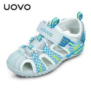 Uovo обувь Летние девушки сандалии для девочек обувь Замкнутый носочной моды сандалии пляжа