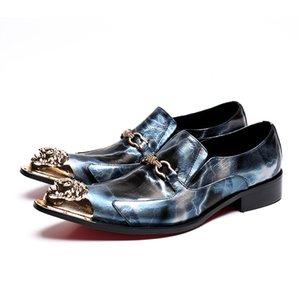 Scarpe da sposa da uomo in vera pelle con punta a punta Business Oxford scarpe da ballo paty maschili Scarpe eleganti da cerimonia