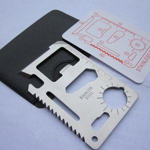 11 em 1 canivete suíço inoxidável Multi-função Camping Ferramenta Camping Campo Survival bolso com Ferramentas faca Cartão EDC mão GGA2986-3