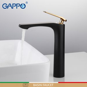 GAPPO basin faucets Black basin mixer faucet for bathroom sink faucets tall waterfall bathroom faucet mixer tap torneira tapware