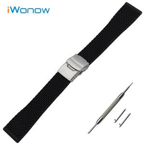 Silicone Rubber Band Montre 17mm 18mm 19mm 20mm 21mm 22mm 23mm 24mm Universal Watchband Quick Release Sangle de poignet Bracelet Ceinture