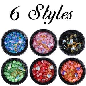 New Style Nail Art Charm Steel Ball Caviar Size Mixed Color Steel Ball 6 Colors Loaded Nail Jewelry Rhinestone Fashion Nail Art