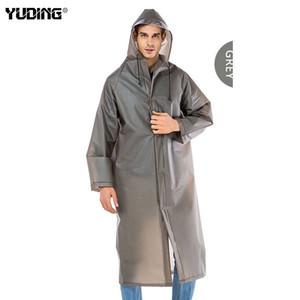 Yuding EVA épais long imperméable vêtements imperméables pour hommes imperméable Randonnée à capuchon pluie Manteau Y200324