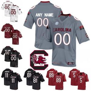 Personalizzato NCAA South Carolina Gamecocks College Football Personalizzato Bentley Turner Maglie Qualsiasi nome numero bianco nero rosso grigio S-3XL