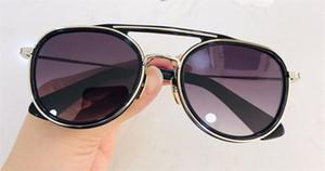 Yeni marka erkekler tasarım eski güneş gözlüğü Fshion tarzı kare kare UV orijinal durumda olan 400 lens güneş gözlüğü