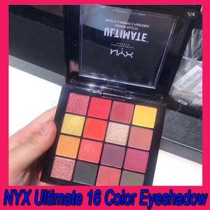 .New NYX Eye Makeup final 16 cores Phoenix Eyeshadow Palette paleta Shimmer Matte sombra para os olhos Cosméticos