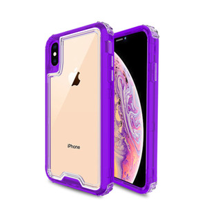 For Iphone XS MAX X XR XI 6.5 6.1 5.8 8 7 6 Plus Triple Combo Clear Design Shock Absorption Case Cover