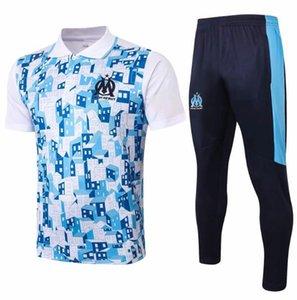 20 21 마르세유 폴로 셔츠 Ocampos 2020 교육 정장 제르맹 옷 축구 t- 셔츠 기 Thauvin 2021 짧은 소매 운동복 축구 유니폼