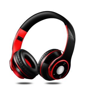 New Auscultadores sem fios Bluetooth Headset Headphone Com Microfone Baixo Baixo fones de ouvido para o telefone computador esporte MP3 Player