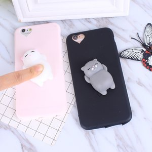 Squishy Cat Soft Phone Case for iPhone6 6s Cute Case for iPhone 8 7 6s 8 plus 3D Doll Phone Accessories Capa NEW