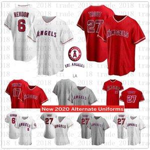 custom Los Angeles 2020 Angels 27 Mike Trout Jersey 6 Anthony Rendon 17 Shohei Ohtani Andrelton Simmons Albert Pujols Justin Upton Jerseys