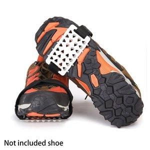 남성 여성 하이킹 아이스 스노우 스파이크 안티 슬립 등반 야외 견인 범용 겨울 스테이플 신발 그리퍼 클리트 낚시