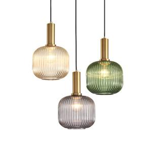 Nordic Bar Luminaires suspendus Moderne Simple Clair Lumière Luxe Salle à manger Chambre à coucher Chevet Verre LED Droplight suspension