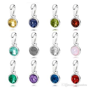 DoniA 100% 925 Sterling Silver Charm NOVEMBER JANUARY JUNE MARCH DECEMBER OCTOBER MAY APRIL AUGUST FEBRUARY JULY SEPTEMBER NECKLACE PENDANT