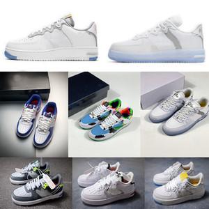 Nouveau design 3M Reflective Independence Day Hommes Femmes Chaussures de course 1 chaussures de sport de planche à roulettes Scasual Sneakers 36-45