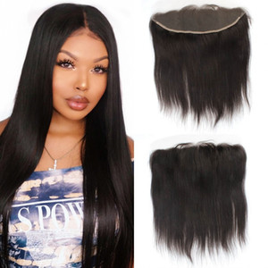 Peruvian Hair Ear to Ear 13x4 Lace Frontal Straight Human Hair Lace Frontal Closure Pre-plucked Baby Hair