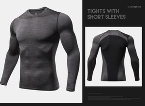New Slim Fit rapide Tops Fitness sec Hommes de compression T-shirts Automne Printemps