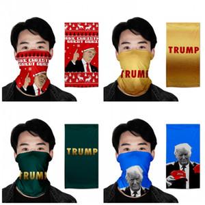 Анти пыль Защита маска Выборы 2020 Президент США Дональд Трамп Printed Многофункционального Магия повязки завязанного Унисекс диапазон волосы 7oh E19