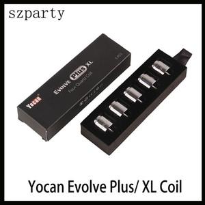 Yocan Evolve Artı XL Balmumu QUAD Bobin Quad Quatz Çubuk Bobinleri Ile Bobin Kapağını Evolve Artı XL Için Dab Kalem Kiti Nakliye Ücretsiz