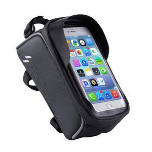Karbon tahıl Su Geçirmez Ön tüp çantası Bisiklet Bisiklet Çanta Telefon GPS Tutucu Gidon Dağı Çantası Bisiklet Aksesuarları spor GPS telefon pocke Standı