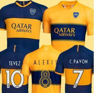TOP Thailand 2019 2020 Boca Juniors Fußball Jersey 19 20 GAGO CARLITOS Hauptfußballhemd TEVEZ Boca Juniors camisetas de futbol