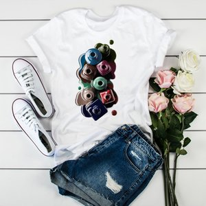 Women 2020 3D Print Watercolor Fashion Tops Tumblr Tshirts T Clothes Shirt Womens Ladies Graphic Female Tee T-Shirt Clothing