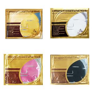 골드 콜라겐 크리스탈 큰 얼굴 마스크 자연 보습 페이셜 마스크 스킨 케어 4 색 한국 화장품 마스크
