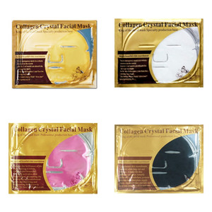 Gold Collagen Crystal Big Face Mask Nature Moisturizing Facial Mask Skin Care 4 color Korean Cosmetics Mask