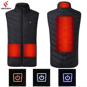 2018 mulheres novas dos homens elétrico aquecido Vest S-4XL Aquecimento Colete Roupa Quente térmica Feather Hot Sale revestimento do inverno