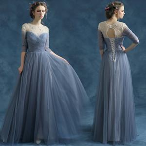 Joli Voir au gris Robes de bal Paillettes et strass femmes robes de soirée étage longueur Affordable robes de soirée avec dos creux