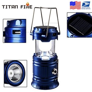 Rechargeable Solar Camping Lantern 2 LED Light Source Poweful Portable Camping Lanterns Outdoor Tent Light Lamp