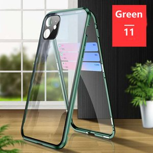 Lens Protection Magnetic Adsorption Full Tempered Glass Case For iPhone 11 Pro Max XS Max XR X 8 7 Samsung Galaxy S20 Ultra