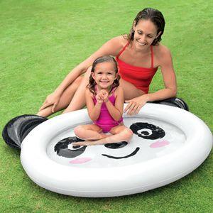 Надувной плавательный бассейн Партия игры Дети младенческой крытый большой пластиковый бассейн водных видов спорта для детей младенцев Kiddie Panda Белый