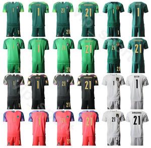 Italia portero de fútbol 21 Gianluigi Donnarumma Kits camisa conjunto Jersey 2020 Portero GK 1 Sirigu 1 Gianluigi Buffon Fútbol Uniforme