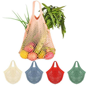 100pcs String Borsa della spesa riutilizzabile Supermercato Grocery Shopping Bag Tote della rete della maglia tessuto di cotone Frutta Verdura borsa per lo shopping DHL