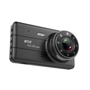 4 pollici automobile DVR cruscotto digitale registratore dell'azionamento veicolo fotocamera 2 canali anteriore 170 ° posteriore 120 ° grandangolo HD pieno 1080P