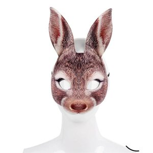 Pasqua maschere di animali Coniglio EVA pieno facciale Tre Colori Uomini E Donne Halloween Party Mask nuovo arrivo 6szE1