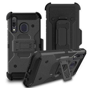 For Samsung A11 A21 A01 A20 A30 A50 A10E S20 Ultra Plus Note 10 A6 2018 Rugged Tough Clip Holster Kickstand Feature Protective Case Cover