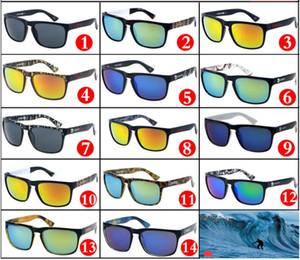 Sıcak Satış 14 Renkler Serin Erkekler Spor Güneş Unisex Tasarım Baskı Açık Bisiklet Güneş Gözlükleri Renkli Ayna Lensler