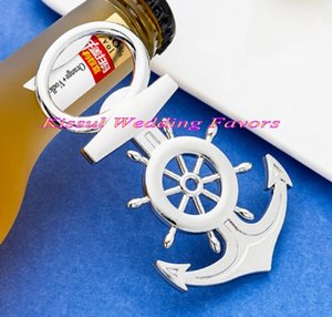 (10 Pieces lot) Newest Bridal shower Party favors Nautical Anchor Bottle Opener Favors for Nautical themed wedding souvenirs